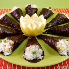 Coni di riso con zucchine e tonno
