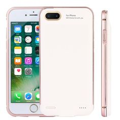 CXCase iPhone 7 Plus/ Plus/ 6 Plus / 8 Plus Battery Case, Ultra Slim Extended Battery Backup Charging Case Charger Pack Power Bank for iPhone Plus/iPhone Plus inch - Gold Iphone 8 Cases, Iphone 7 Plus, Plus 8, Cute Cases, Charger, Packing, Slim, App, Rose Gold