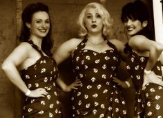 The Hotsie Totsies are an all female, all singing, all harmonising trio with a super repertoire of WWII classics from acts such as The Andrew Sisters, Ruth Eating and Ella Fitzgerald. Performing mostly as a trio this fully suited and booted act can also supply a backing band if required.
