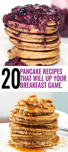 20 pancake recipes that will up your breakfast game.