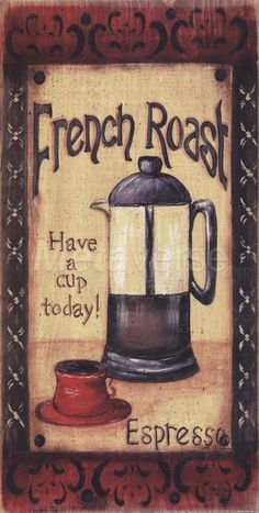 French Roast art print at Coffee Decor
