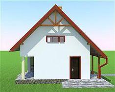 Elewacja lewa projektu Deko w2 Home Fashion, Cabin, House Styles, Home Decor, Deco, Projects, Decoration Home, Room Decor, Cabins