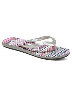 61fe10db0e16 Roxy Womens Tahiti V Sandals Flip Flop PinkMetallic Silver 7 M US --  Continue to