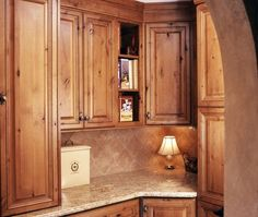 Knotty Adler Kitchen Cabinets