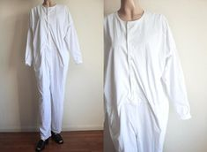 Vintage Issey Miyake Plantation Cotton Jumpsuit / Oversized Jumpsuit / Made in Japan / Avant Garde High Fashion Vintage Jumpsuit, Cotton Jumpsuit, Issey Miyake, High Fashion, Kimono Top, Tunic Tops, Japan, Trending Outfits, Etsy