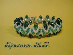Браслет из бисера и бусин. МК. / Bracelet of beads and beads. D.I.Y.