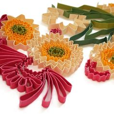 Illustrations has maded for calendar by paper in quilling technic.