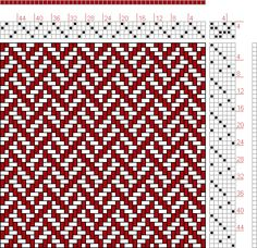 Hand Weaving Draft: Page 220, Figure 8, Orimono soshiki hen [Textile System], Yoshida, Kiju, 4S, 6T - Handweaving.net Hand Weaving and Draft Archive