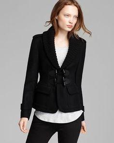 Burberry Brit Pebmarsh Wool Toggle Jacket on shopstyle.com