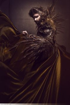 "Proudly presenting your host of Gala Nocturna: the evil sorcerer ""von Rothbart""! ----------------------------- Photography: Viona-Art / www.viona-art.com Model: Dirk von Heinrichshorst Make-up & styling: Viona-Art Costume: Fairytas"