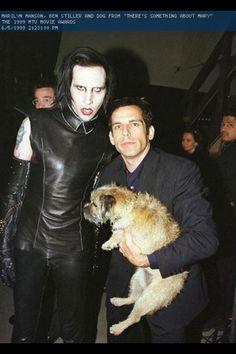 {Marilyn Manson} Marilyn Manson and Ben Stiller #music #goth #MarilynManson