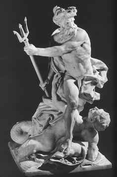 Lambert-Sigisbert Adam's marble sculpture of Neptune, god of the sea, calming the waves.