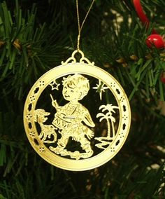 Personalized Little Drummer Boy High Polished Brass Custom Christmas Ornament #christmasornaments #personalizedchristmasornaments