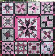 Summer Star Sampler Quilt Top - 2010 - 2012 by Happy 2 Sew, via Flickr