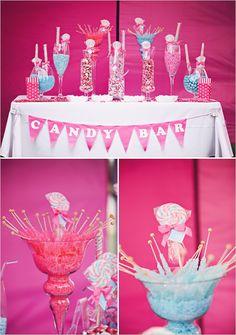 hot pink candy wedding ideas
