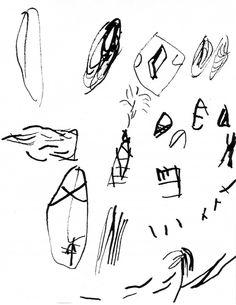 Au sud de nulle part #16, 2011. Indian ink on paper, 20,1 x 15,9 cm, 7 7/8 x 6 1/4 inches