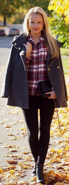 Outfit In Flannel Shirt  #  a little country but still street fashion:))