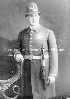 Ca. 1900 photograph of unidentified policeman from Sacramento, CA.  This is a really great photo!  (Center for Sacramento History)