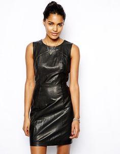 Muubaa Troy Leather Pencil Dress