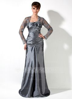 Mother of the Bride Dresses - $152.99 - A-Line/Princess One-Shoulder Sweep Train Taffeta Mother of the Bride Dress With Ruffle Lace Beading (008006082) http://jjshouse.com/A-Line-Princess-One-Shoulder-Sweep-Train-Taffeta-Mother-Of-The-Bride-Dress-With-Ruffle-Lace-Beading-008006082-g6082?ver=1