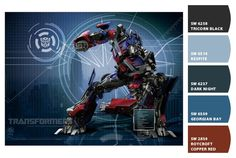 Transformers Prime for Owen's Room: Paint colors from Chip It! by Sherwin-Williams