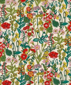 Liberty of London Tana Lawn Fabric Flowers NEW 2016 Liberty tissu Textile Prints, Textile Design, Fabric Design, Pattern Design, Textiles, Liberty Art Fabrics, Liberty Print, Textures Patterns, Fabric Patterns