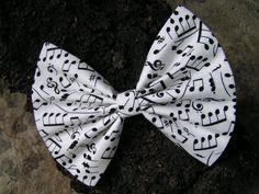 Big music bow, large hair bow, hairbow, Hair Bow for women, Hair bows for girls, bows for Teens, big bow on Etsy, $3.79
