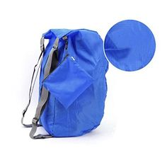 BXT Outdoor Waterproof Lightweight Shoulder Foldable Nylon Travel Backpack for Camping Hiking Storage Back Pack Daypack  Blue ** Continue to the product at the image link.
