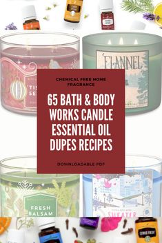 Essential Oils Room Spray, Essential Oil Candles, Essential Oil Diffuser Blends, Diy Wax Melts, Diffuser Recipes, Aromatherapy Candles, Bath And Body Works, Homemade Candles, Diy Candles