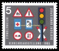 1965 International Transportation Exhibition 5 Pf - traffic signs Michel 468 MNH** - Emerald Books and Stamps