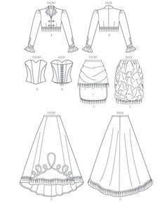 M6911 | Misses' Bolero, Corset, Skirt and Overskirt | New Sewing Patterns | McCall's Patterns