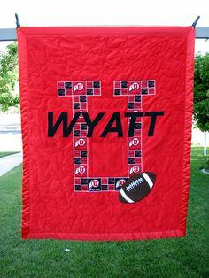 Baby Quilt, sports fans of University of Utah Utes.