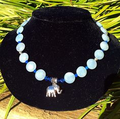 ON SALE Blue Coin Necklace