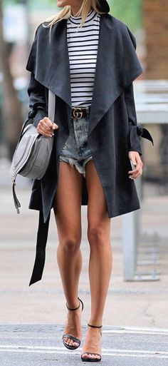 Trench coat makes anything look chic