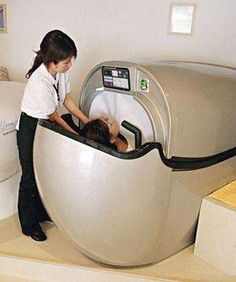 "The Avant Santelubain 999. They call it the ""Human Washing Machine"". Just crawl in and close the top and it will treat you like a car in the car wash. Like a self cleaning oven, this bad boy will sterilize and clean itself."