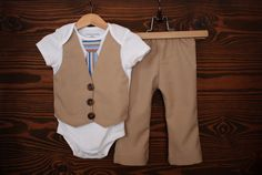 Aww! Love it! Using a onesie  to make  a mock suit for a little man