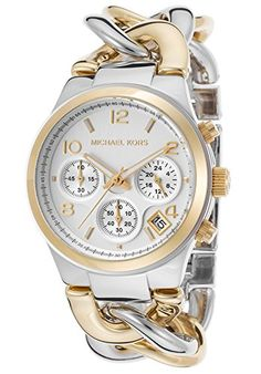 Michael Kors Watches Runway Twist Watch (Two Tone Gold). For more details, please visit http://girlyuniverse.com