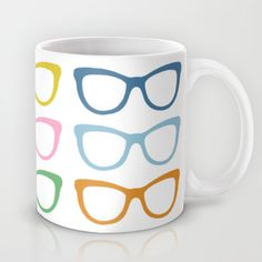 Eye glasses mug Optometry Office, Eye Chart, Optical Shop, Doctor Gifts, Glasses Online, Objet D'art, Eye Glasses, Store Design, Coffee Cups