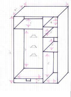 Rough measurements of tack locker