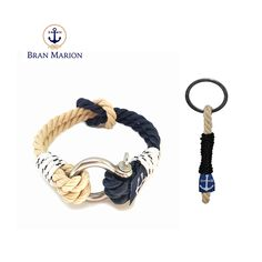 Bran Marion Shackle Nautical Bracelet and Keychain Nautical Bracelet, Nautical Jewelry, Marine Rope, Everyday Look, Handmade Bracelets, Jewelry Collection, Gifts, Car Keys, Sailors