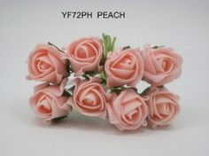 YF72PH  ROSEBUDS IN PEACH COLOURFAST FOAM 8 X 3 CM Vintage Colors, Vintage Flowers, Bunch Of Flowers, Rose Buds, Wedding Bouquets, Peach, Colours, Pretty, Wedding Brooch Bouquets