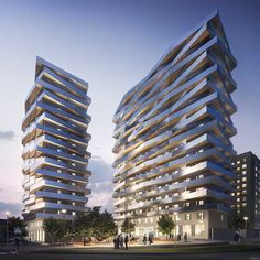 5 Residential Building Design, Urban Architecture, Building Structure, Facade House, Modern Buildings, Condominium, Stockholm, Bro, Multi Story Building