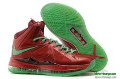 low priced 2b358 9a0f7 Lbj 10 Christmas Red Diamond Green Lebron 10 Sneakers 2013 541100 600 Sport  Nike, Lebron