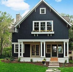 Dark color. - I'm searching for good color schemes in exterior paint. I love this one.