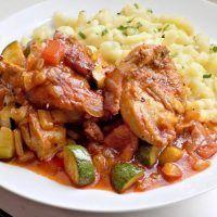 Recept : Kuře na zelenině, halušky | ReceptyOnLine.cz - kuchařka, recepty a inspirace