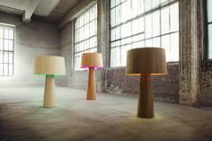 SOPHIE veneer lamp by lasfera design by Henri Garbers - lasfera Global Design, Modern Design, Urban Design, Tall Floor Lamps, Walnut Floors, Handmade Lamps, Fabric Shades, Cool Lighting, Lamp Light