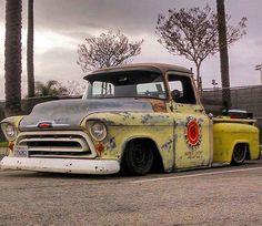 1956 Chevy truck slammed