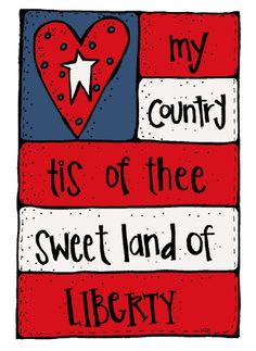 Sweet land of liberty! American Spirit, American Flag, American Pride, Happy 4 Of July, Fourth Of July, Patriotic Words, Patriotic Quotes, Flag Painting, Rock Painting