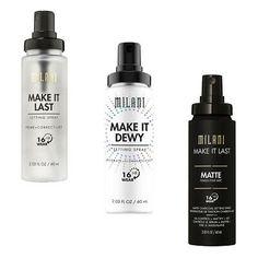 Milani Make it Last / Dewy Prime + Correct + Set Spray Variety 16 Hour Wear   eBay Milani Cosmetics, Maybelline, Nyx, Eye Highlighter, Makeup Beauty Box, Makeup Deals, Eye Palette, Contour Palette, Makeup