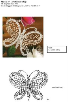 Archivo de álbumes Bobbin Lace Patterns, Bead Loom Patterns, Doily Patterns, Dress Patterns, Crochet Butterfly Pattern, Crochet Flowers, Lace Earrings, Lace Jewelry, Hairpin Lace Crochet